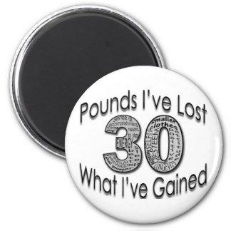 30 libras de imán perdido