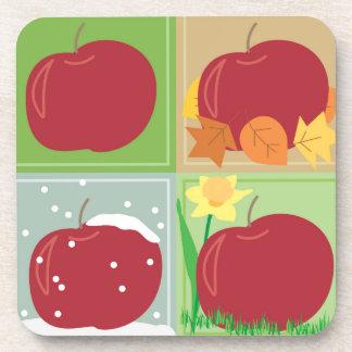30 libras de manzanas cuatro prácticos de costa de posavasos de bebida