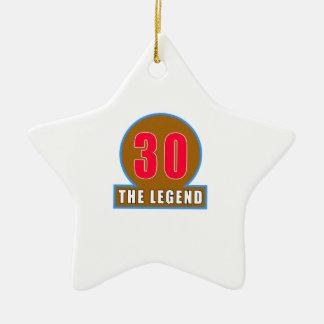 30 los diseños del cumpleaños de la leyenda ornamento de navidad