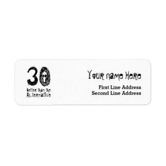 30 mejor que el trigésimo cumpleaños divertido Q30 Etiqueta De Remite