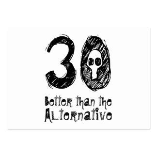 30 mejor que el trigésimo cumpleaños divertido Q30 Plantillas De Tarjetas De Visita