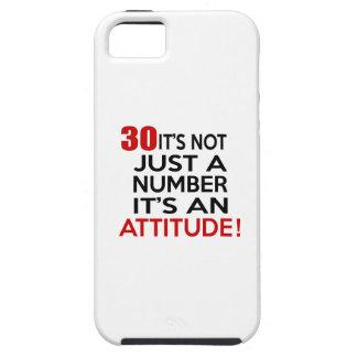 30 no es apenas un número que es una actitud funda para iPhone 5 tough