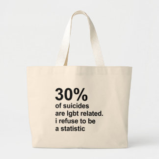30% of suicides are lgbt related canvas bag