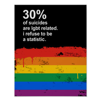 30% of suicides are lgbt related poster