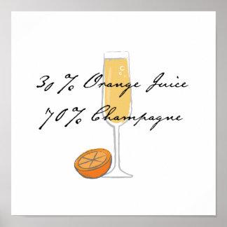 """30% Orange Juice, 70% Champagne"" 12x12 poster"