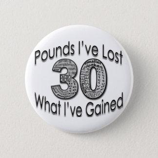 30 Pounds Lost Button