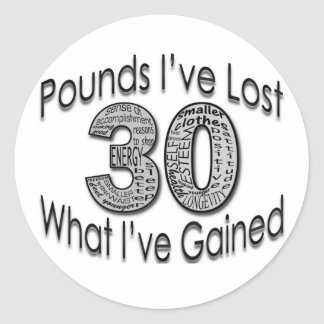 30 Pounds Lost Sticker