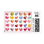 30 sellos de los corazones de la tarjeta del día d