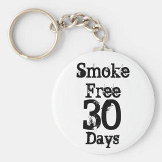 30 , Smoke Free , Days Keychain