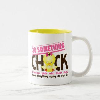 30-Something Chick 3 Two-Tone Coffee Mug