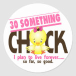 30-Something Chick 5 Round Stickers