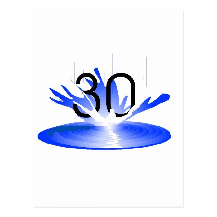 30 Splash Postcard