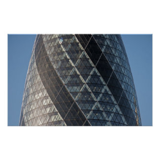 30 St Mary Axe (Swiss Re Building or Gherkin) Poster