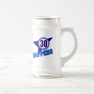 30 suceden los trigésimos regalos de cumpleaños jarra de cerveza