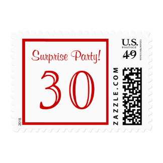30 Surprise Party Postage