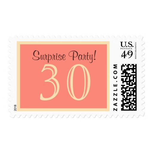 30 Surprise Party Postage - Salmon