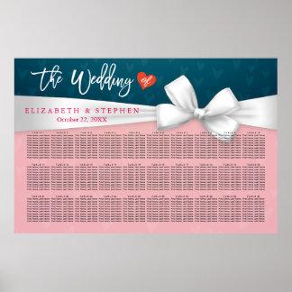 30+ Tablas que casan la cinta del blanco del rosa Póster
