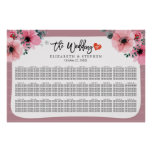 30 Tables Wedding Seating Chart Watercolor Floral
