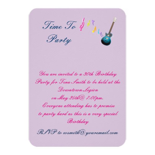 30 th Birthday party invitation