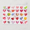 30 Thank You Valentine Hearts Postcard postcard