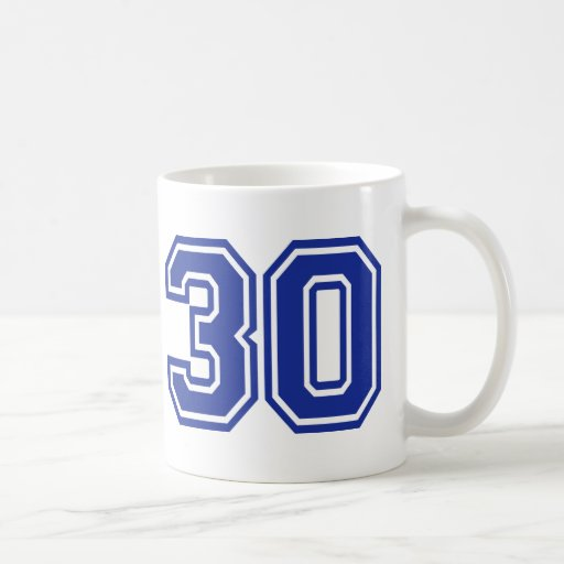 30 - thirty coffee mugs