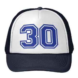 30 - thirty hats