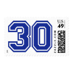 30 - thirty postage stamps