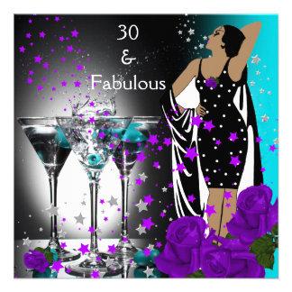30 trigésimos rosas fabulosos de la púrpura del tr anuncios