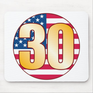 30 USA Gold Mouse Pad
