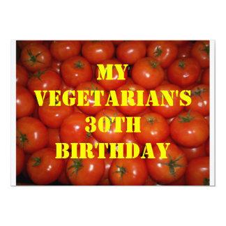 30 Vegetarian Birthday 2 Invitation