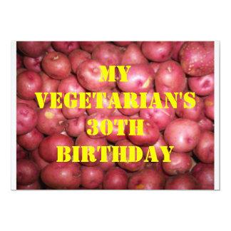 30 Vegetarian Birthday 3 Invite