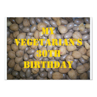 30 Vegetarian Birthday 5 Custom Announcement