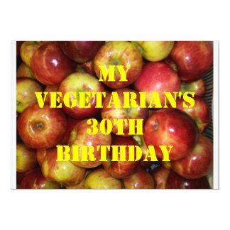 30 Vegetarian Birthday 8 Personalized Invitations