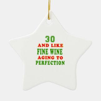 30 y como diseños del cumpleaños del vino fino ornaments para arbol de navidad