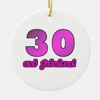 30 y cumpleaños fabuloso ornamento para arbol de navidad