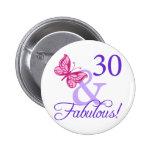 30 y cumpleaños fabuloso pins
