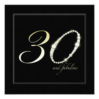 30 y fabuloso invitacion personal
