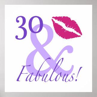 30 y fabuloso póster