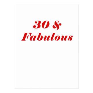 30 y fabuloso postales