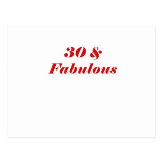 30 y fabuloso tarjetas postales