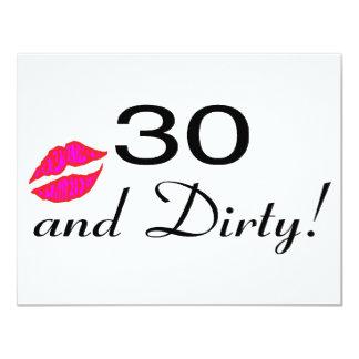 30 y labios sucios comunicados personalizados