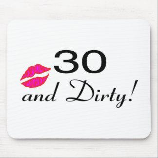 30 y labios sucios tapetes de ratón