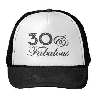 30 y regalo fabuloso gorros