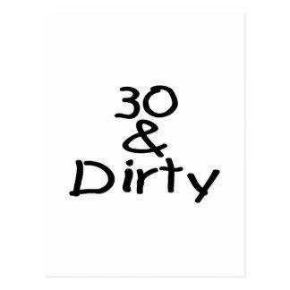 30 y sucio tarjetas postales