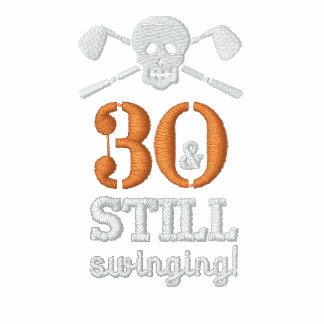 30 y todavía balanceo - camisa del cumpleaños del camiseta polo