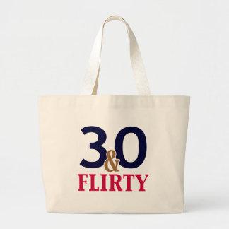 30 y trigésimo cumpleaños coqueto bolsa
