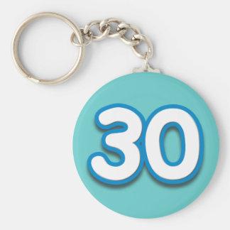 30 Year Birthday or Anniversary - Add Text Keychain