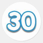 30 Year Birthday or Anniversary - Add Text Round Stickers
