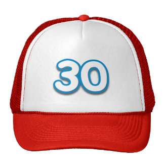 30 Year Birthday or Anniversary Sim Font Hat