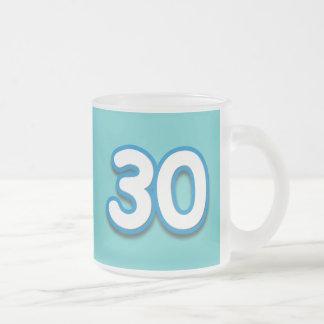 30 Year Birthday or Anniversary Sim Font Mug